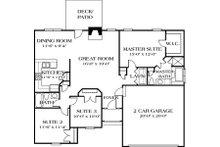 Traditional Floor Plan - Main Floor Plan Plan #453-41