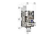 Contemporary Style House Plan - 6 Beds 3 Baths 3555 Sq/Ft Plan #25-4555 Floor Plan - Lower Floor