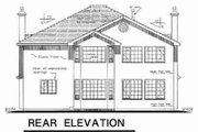 Traditional Style House Plan - 6 Beds 3.5 Baths 2912 Sq/Ft Plan #18-9343 Exterior - Rear Elevation