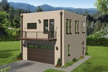 Dream House Plan - Contemporary Exterior - Front Elevation Plan #932-330