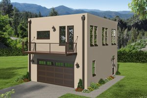 Contemporary Exterior - Front Elevation Plan #932-330