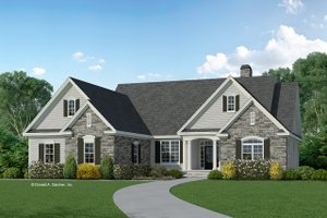 Home Plan - Traditional Exterior - Front Elevation Plan #929-959