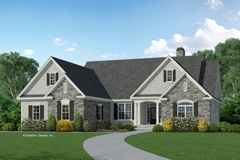 Dream House Plan - Traditional Exterior - Front Elevation Plan #929-959