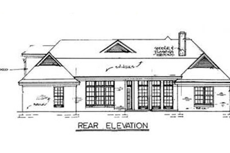 European Exterior - Rear Elevation Plan #34-113 - Houseplans.com