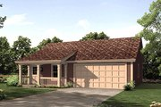 Cottage Style House Plan - 1 Beds 1 Baths 496 Sq/Ft Plan #57-400 Exterior - Front Elevation