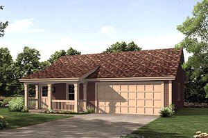 Architectural House Design - Cottage Exterior - Front Elevation Plan #57-400