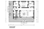 Modern Style House Plan - 3 Beds 1 Baths 1059 Sq/Ft Plan #549-1 Floor Plan - Main Floor Plan