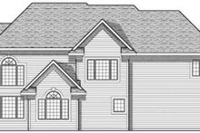 Home Plan - Traditional Exterior - Rear Elevation Plan #70-635