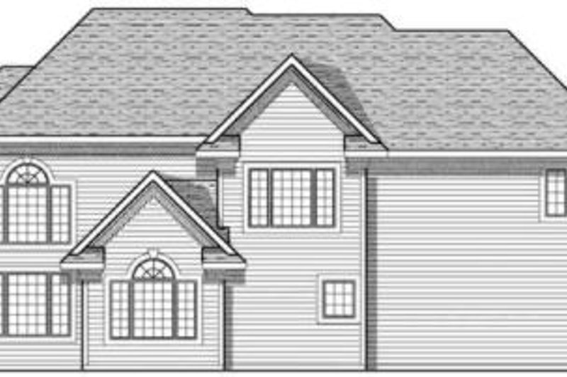 Traditional Exterior - Rear Elevation Plan #70-635 - Houseplans.com
