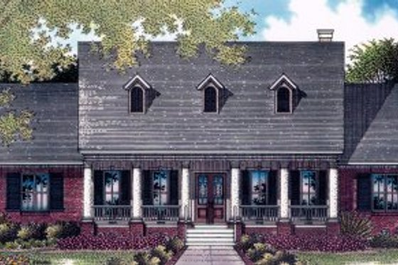 Traditional Exterior - Front Elevation Plan #14-101