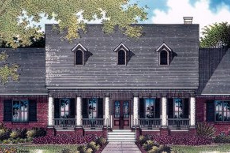 Architectural House Design - Traditional Exterior - Front Elevation Plan #14-101