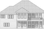 European Style House Plan - 2 Beds 1.5 Baths 2249 Sq/Ft Plan #70-593 Exterior - Rear Elevation