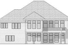 House Plan Design - European Exterior - Rear Elevation Plan #70-593