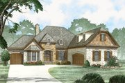 European Style House Plan - 3 Beds 2 Baths 2381 Sq/Ft Plan #923-82 Exterior - Front Elevation