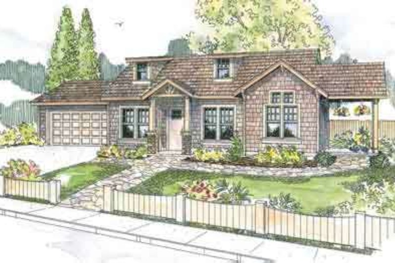 Craftsman Exterior - Front Elevation Plan #124-565 - Houseplans.com
