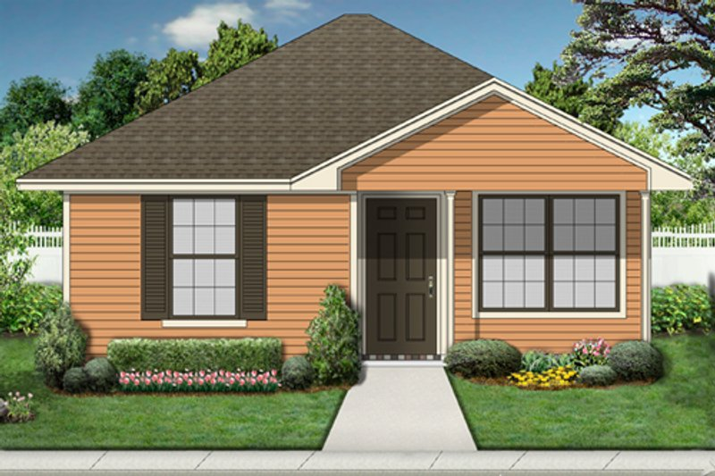 Cottage Exterior - Front Elevation Plan #84-534