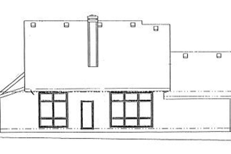 Traditional Exterior - Rear Elevation Plan #20-726 - Houseplans.com