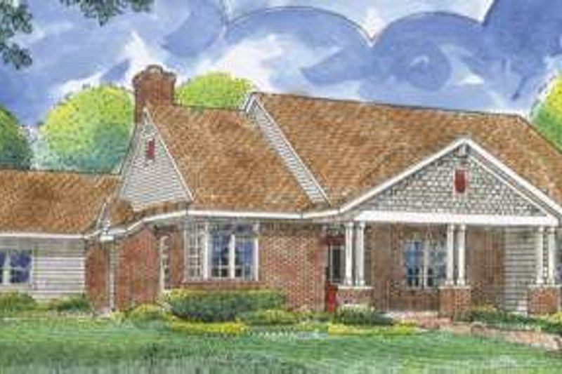 Southern Exterior - Front Elevation Plan #410-291