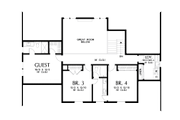 Contemporary Style House Plan - 4 Beds 3.5 Baths 3032 Sq/Ft Plan #48-1003 Floor Plan - Upper Floor Plan