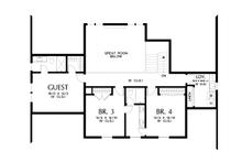 Contemporary Floor Plan - Upper Floor Plan Plan #48-1003