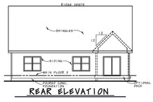 Architectural House Design - Craftsman Exterior - Rear Elevation Plan #20-2254