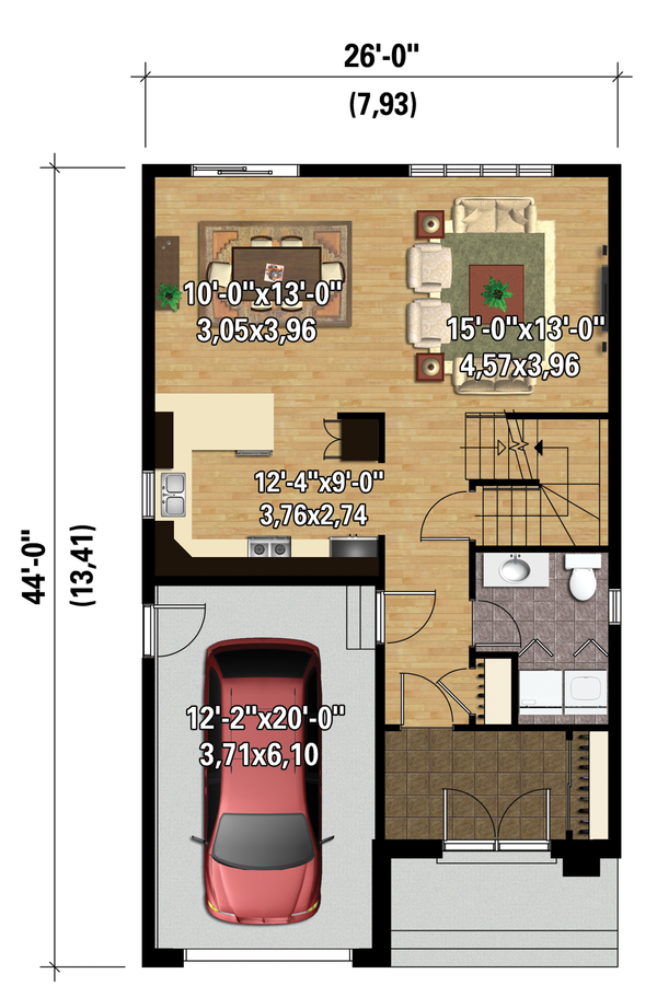 Contemporary Floor Plan - Main Floor Plan Plan #25-4288