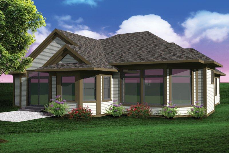Ranch Exterior - Rear Elevation Plan #70-1071 - Houseplans.com