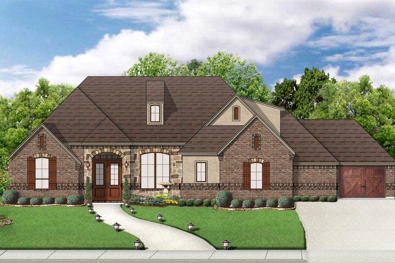 Dream House Plan - European Exterior - Front Elevation Plan #84-592