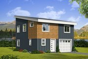 Contemporary Style House Plan - 3 Beds 2 Baths 1251 Sq/Ft Plan #932-47 Exterior - Front Elevation
