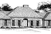 Traditional Style House Plan - 3 Beds 2 Baths 1940 Sq/Ft Plan #10-143 Exterior - Front Elevation