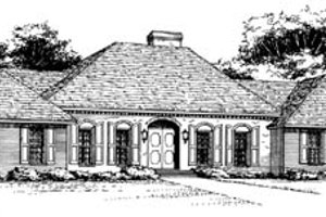 Traditional Exterior - Front Elevation Plan #10-143