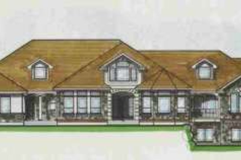Traditional Style House Plan - 6 Beds 4.5 Baths 7091 Sq/Ft Plan #308-127 Exterior - Front Elevation