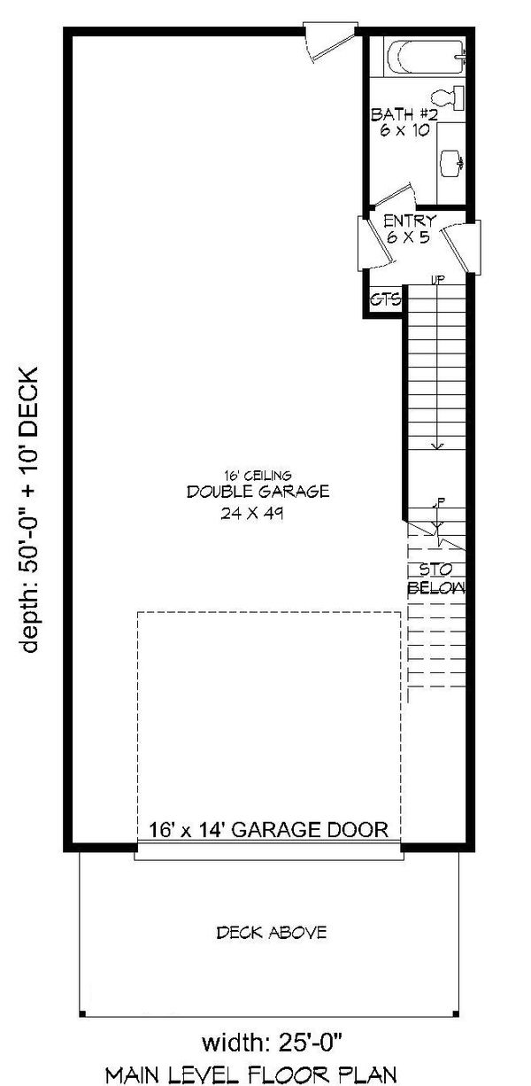 Contemporary Floor Plan - Main Floor Plan #932-178