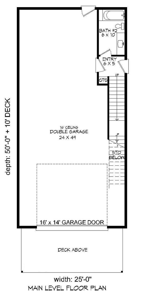 House Plan Design - Contemporary Floor Plan - Main Floor Plan #932-178