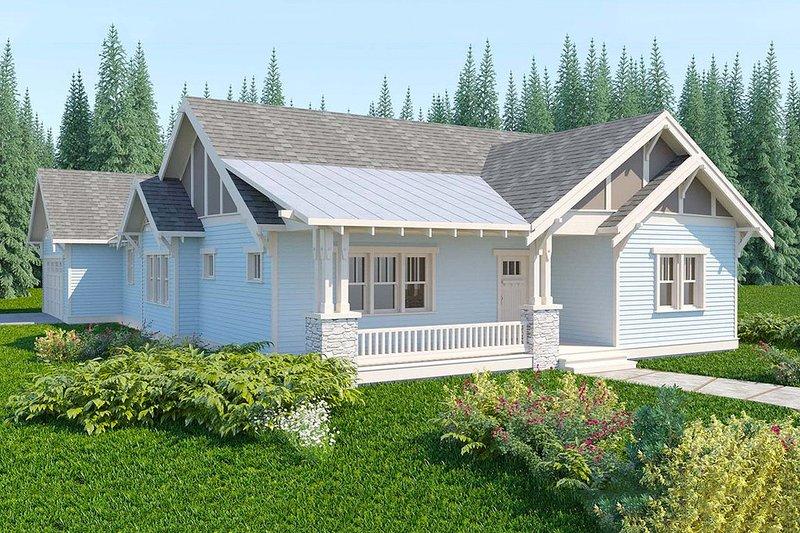 House Plan Design - Bungalow style, Craftsman design home, front elevation