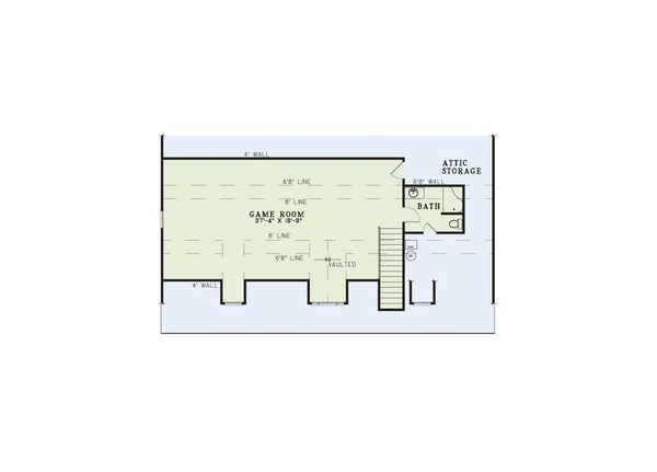 Dream House Plan - Country style house plan, upper level floor plan