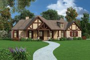 Tudor Style House Plan - 4 Beds 3.5 Baths 2342 Sq/Ft Plan #45-373 Exterior - Front Elevation
