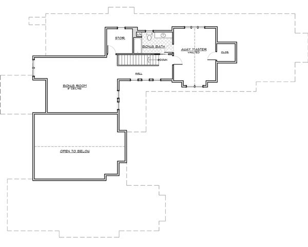 Craftsman Floor Plan - Upper Floor Plan Plan #892-4