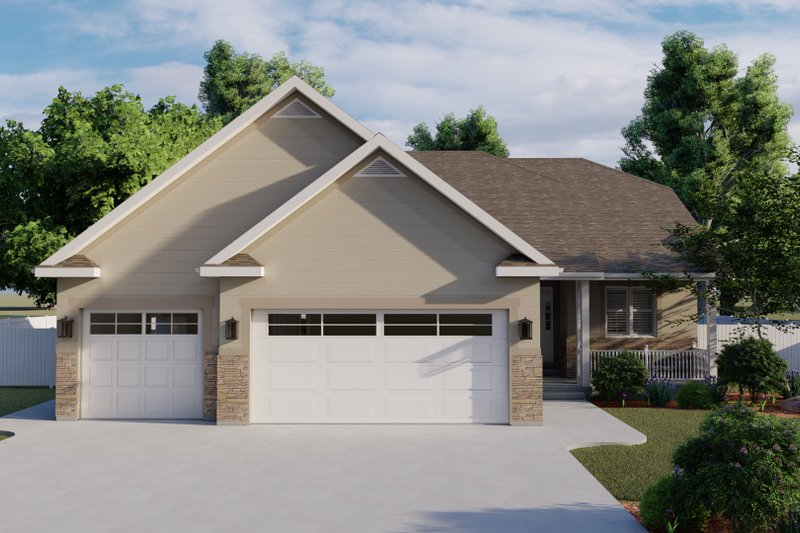 Architectural House Design - Ranch Exterior - Front Elevation Plan #1060-101