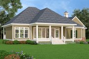 Southern Style House Plan - 3 Beds 3 Baths 1792 Sq/Ft Plan #45-572 Exterior - Rear Elevation