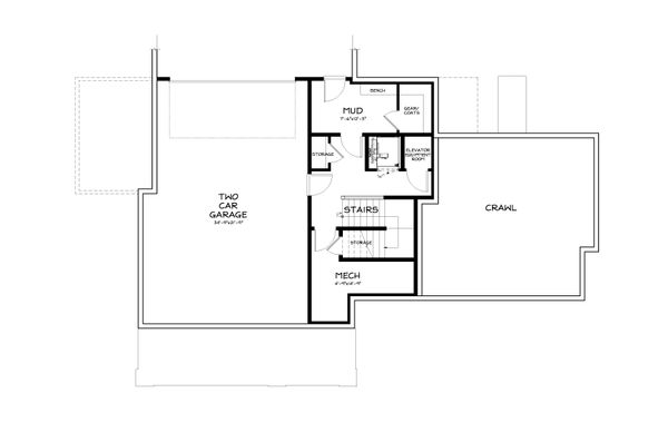 Country Style House Plan - 3 Beds 2.5 Baths 3016 Sq/Ft Plan #895-10 Floor Plan - Lower Floor Plan