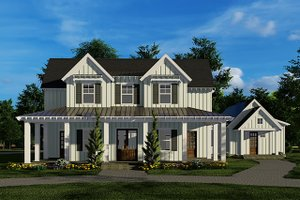 Country Exterior - Front Elevation Plan #923-134