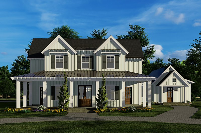 Country Style House Plan - 6 Beds 4.5 Baths 3934 Sq/Ft Plan #923-134 Exterior - Front Elevation