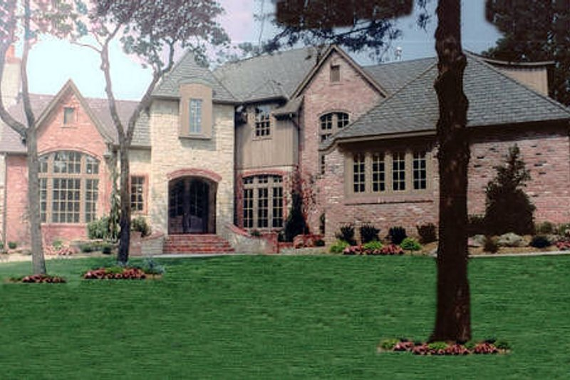 European Exterior - Front Elevation Plan #52-170 - Houseplans.com