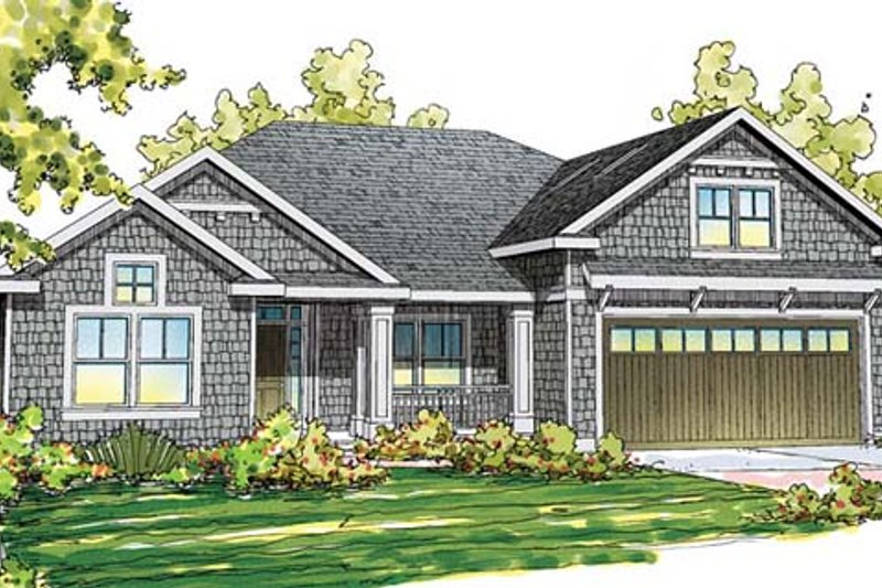 Craftsman Exterior - Front Elevation Plan #124-859