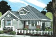 Craftsman Style House Plan - 3 Beds 2 Baths 1376 Sq/Ft Plan #20-1887 Exterior - Front Elevation