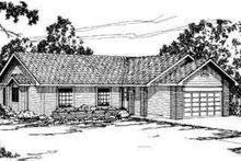 Ranch Exterior - Front Elevation Plan #124-159