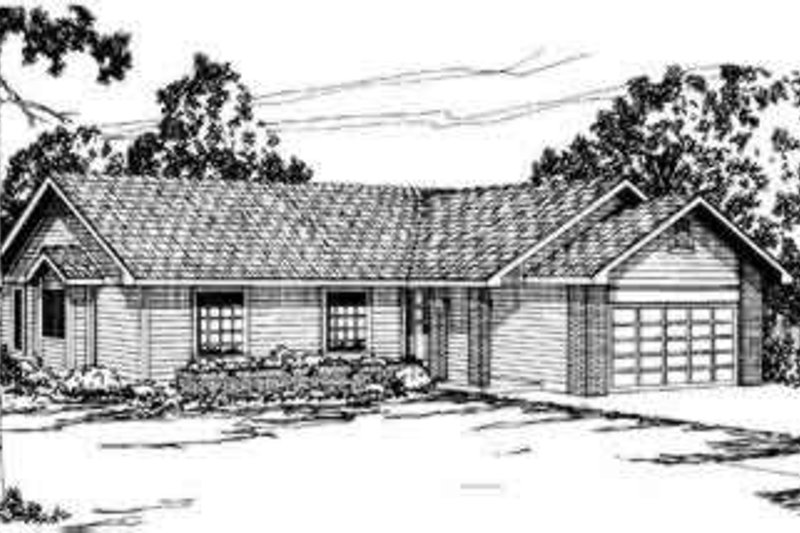 Dream House Plan - Ranch Exterior - Front Elevation Plan #124-159