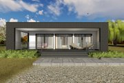 Modern Style House Plan - 1 Beds 1 Baths 681 Sq/Ft Plan #549-7