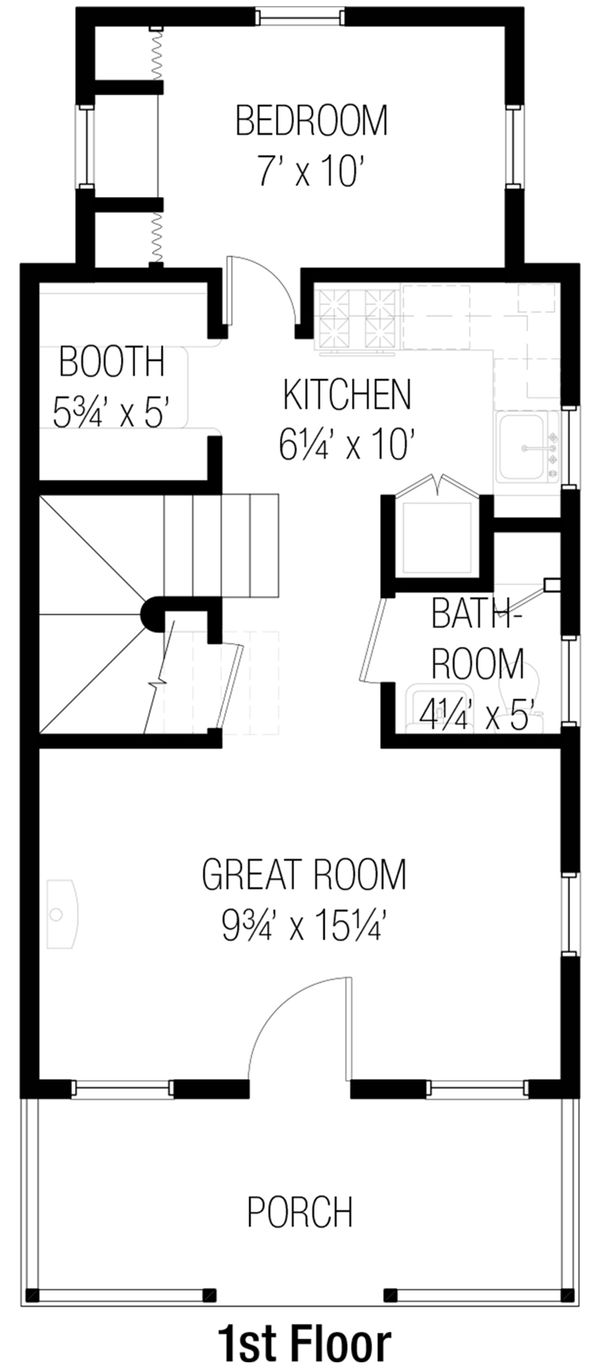 Cottage Floor Plan - Main Floor Plan #915-6